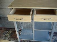 nice kitchen top and storage in v.g.c hardly used.