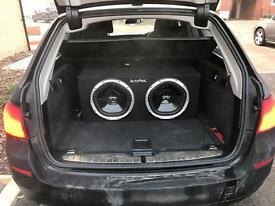 Twin subwoofer xplod Vibe mono block amplifier 2500 watt classD