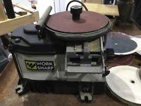 Woodworking tool sharpening machine