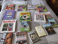 16 Football Books- £5 the Lot for Quick Sale