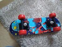 Small children kids robot skateboard