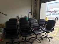 10 Ikea leather office chairs, good condition