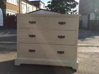 Hand painted chest of drawer in duck egg blue