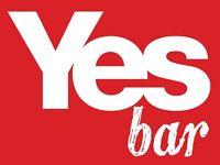 Yesbar are hiring. Part-time staff needed. Immediate Start