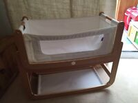 Newborn bundle , snuzpod bedside crib mattress and lots of girls baby clothes