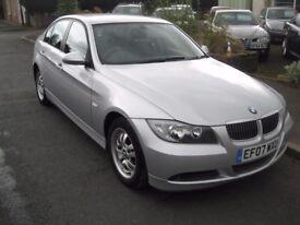 2007 07-reg BMW 318 2.0 i ES saloon manual in silver metallic