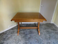 Vintage 1950s Solid Oak Extending Dining Table (no chairs)