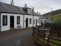 small 1 person cottage immediately available to rent in Leadhills South Lanarkshire