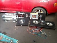 BIG JBL SOUND SYSTEM AMPS SUBS SPEAKERS