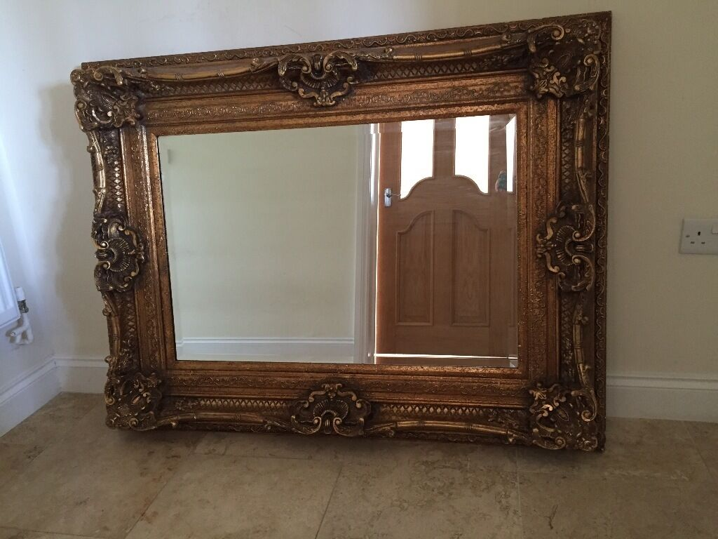 Large decorative mirror for sale in cambridge for Tall framed mirror