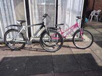 Ladies & Gents bikes .. both brand new .. many extras..