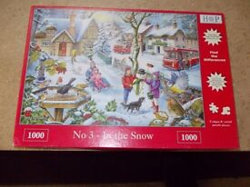 IN THE SNOW JIGSAW PUZZLE 1000 PIECE IN USED CONDITION