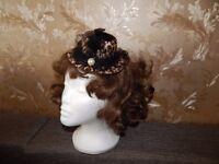 Ladies Mini Feather Rose Top Hat Cap