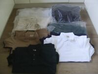 JOB LOT OF 1,000 NEW MENS POLO T SHIRTS, VARIOUS SIZES AND COLOURS ONLY £1 EACH