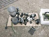 Skimmer pumps, heater
