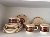 """Retro 1970's Royal Worcester Palissy """" Crofter """" Tea / Coffee Set ( Cups - Saucers - Side Plates )"""