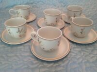 Marks & Spencer, Harvest collection, 6 Cups and Saucers. A1 condition