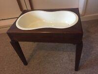 Victorian mahogany table with baby bath