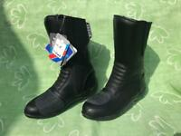 New Motorcycle Motorbike Biker Boots Black Mens Ladies Unisex Size 5