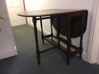 Vintage Dining Table Dropleaf Butterfly Style Antique