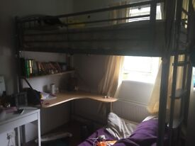 High sleeper bed with desk