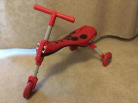 Scuttlebug red tribike kids