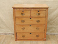 Antique chunky wooden tallboy chest (Delivery)