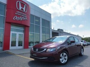 2014 Honda Civic Sedan LX  *** À PARTIR DE  61.10$/SEMAINE!***