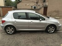 2002 52 Plate Peugeot 307 2.0 HDi GLX 5dr (a/c) Diesel Manual Leather Seats