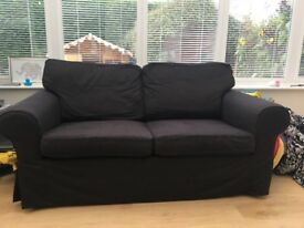 IKEA 2 seater black sofa