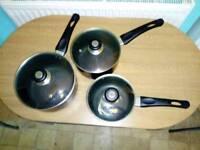 3 Sauce Pan set with lids