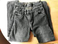 2 pairs of boys 6-7 years straight leg jeans