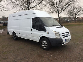 ONLY 82,000 MILES FORD TRANSIT JUMBO 2.4 TDCI 2007 - DRIVES PERFECTLY - MOT'D - NO VAT!!!!!!!!!!!!