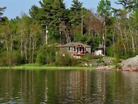 Waterfront, road access cottage for sale on Georgian Bay