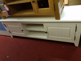 extra large white 2 droor tv unit