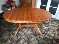 Wooden pine table