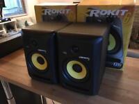 2x KRK Rokit 6 G3 Active Studio Speakers Monitors DJ / Production