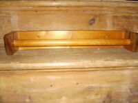 Wooden kitchen towel rail - can be used for normal towels or roller towels - solid wood