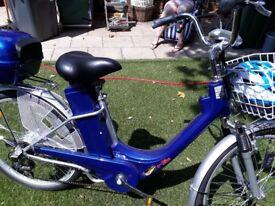 Blue electric bike