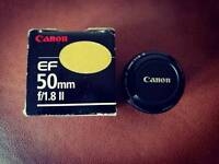 Canon 50mm f1.8 lens