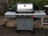 Swiss Grill Gas BBQ 3 burner and pot side burner
