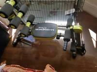 Rowing machine multi exercise machine