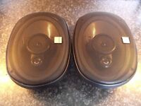 Kenwood KFC-7171 160W Car Speakers (Need new foam surrounds & screws to hold grilles on)