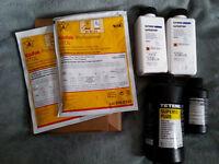Ilford Ilfostop; Tetenal Superfix Plus; Tetenal Mirasol; Kodak Xtol; BW Chemistry