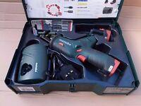 Metabo cordless 10.8 volt Reciprocating saw.