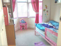 Girl single pink bed / mattress / pink single wardrobe - excellent condition
