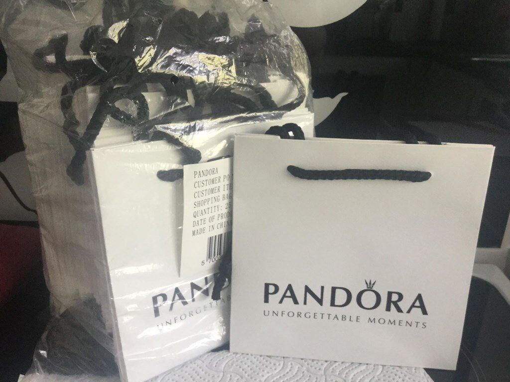 7c551d016d GENUINE PANDORA GIFT BAGS X 25 - SMALL 16cm X 16cm | in ...