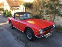 1970 UK Triumph TR6 for sale - requires recommissioning.