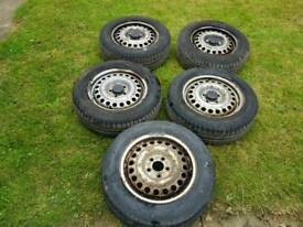 FIVE FORD TRANSIT CONNECT WHEELS AND TYRES