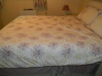 BEDDING LILAC BEDECK KING SIZE QUILT COVER PILLOWCASE CURTAINS